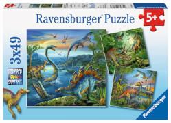 Ravensburger 09317 Puzzle Faszination Dinosaurier 3 x 49 Teile