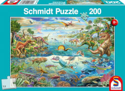 Schmidt Puzzle 56253 Entdecke die Dinosaurier, 200 Teile, ab 8 Jahre