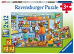 Ravensburger 05076 Puzzle Komm wir gehen einkaufen 2x12 Teile