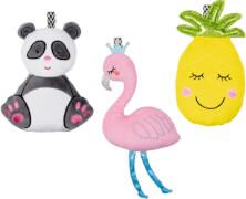 Rassel BabyGlück, sortiert (Panda, Flamingo, Ananas)
