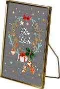 Bilderrahmen Schöne Weihnachtszeit! (für 10 x 15 cm)