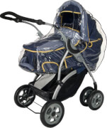 reer 70537 Regenschutz für Kinderwagen